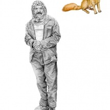 drawings-Man-With-Fox-(portraits-series)